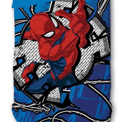 Coberdrom Solteiro Fleece Dupla Face Spider-Man Lepper