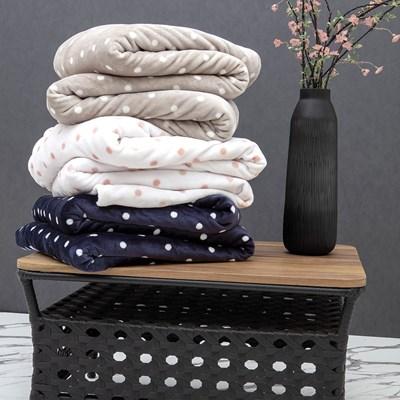 Cobertor Blanket Vintage Poá Solteiro Kacyumara