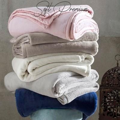 Cobertor Casal 600g Soft Luxo Naturalle Raschel Perola