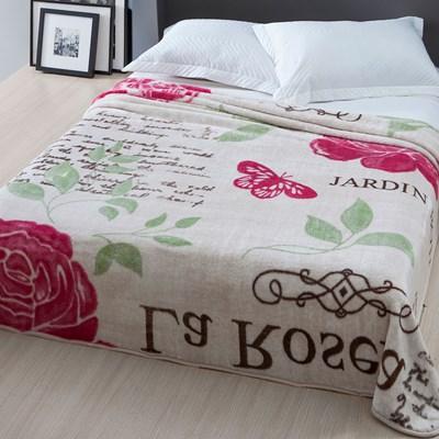 Cobertor Casal Corttex Home Design Raschel Rosera