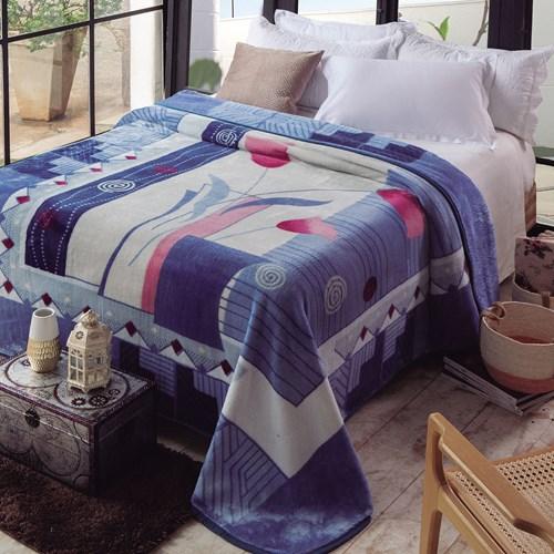 Cobertor Casal Jolitex Raschel Kyor Estampado II