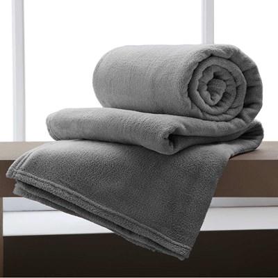 Cobertor de Microfibra Solteiro Home Design Corttex Liso