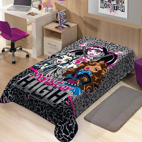 Cobertor Disney Infantil Raschel Monster High Jolitex