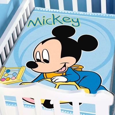 Cobertor Infantil Para Bebê Mickey Disney II Jolitex