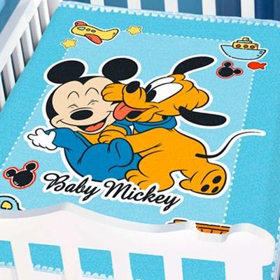 Cobertor Infantil Para Bebê Mickey Disney Jolitex