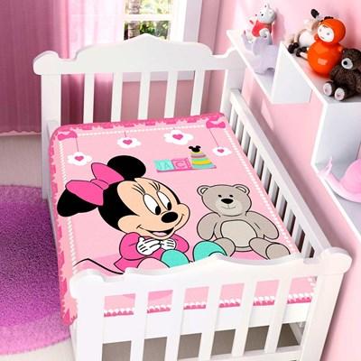 Cobertor Infantil Para Bebê Minnie Disney Jolitex