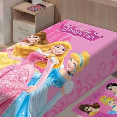 Cobertor Jolitex Disney Infantil Solteiro Raschel Princesas II
