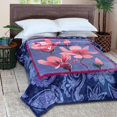 Cobertor Jolitex Pelo Alto Casal 1,80 x 2,20m Antique Azul