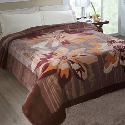 Cobertor Jolitex Raschel Casal 1,80 x 2,20m Columbia Marrom.