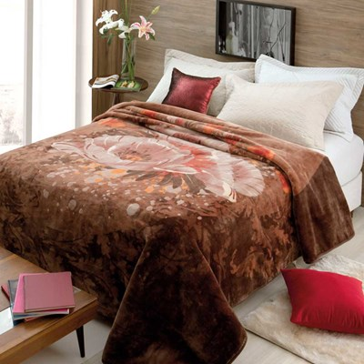 Cobertor Jolitex Raschel King 2,20 x 2,40m Fragrancia