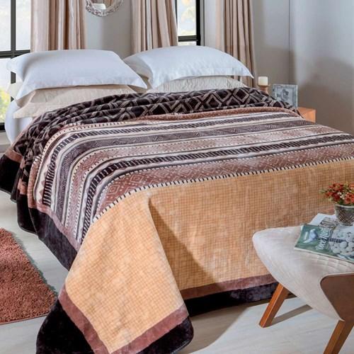Cobertor Jolitex Raschel King 2,20 x 2,40m Gramado