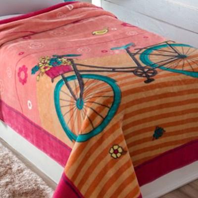 Cobertor Jolitex Solteiro 1,50 x 2,20m Bicicleta