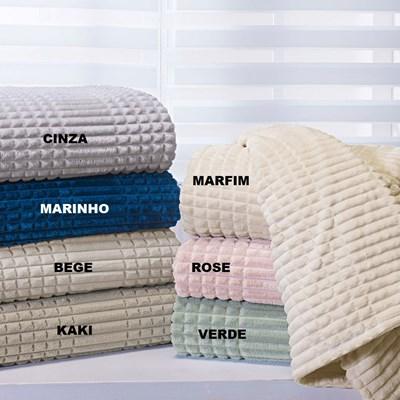 Cobertor Queen de Microfibra Flannel Mont Blanc Andreza