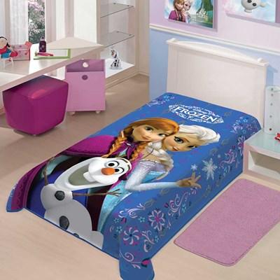 Cobertor Raschel Infantil Solteiro Frozen II Disney Jolitex