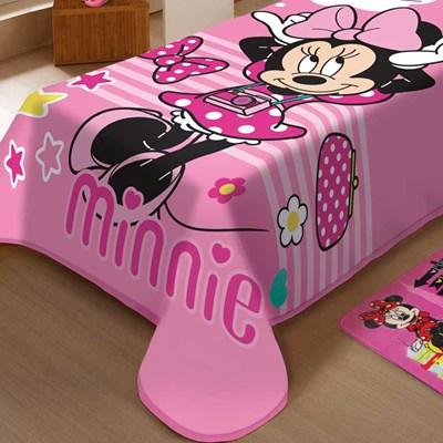 Cobertor Raschel Infantil Solteiro Minnie Smille Jolitex