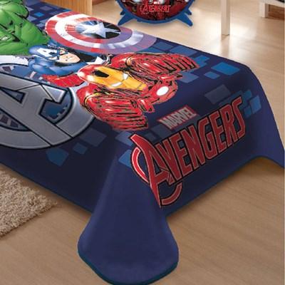 Cobertor Raschel Solteiro Marvel Avengers Jolitex