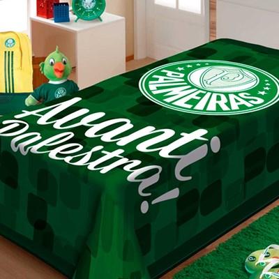 Cobertor Solteiro Jolitex Raschel Palmeiras Avante Palestra