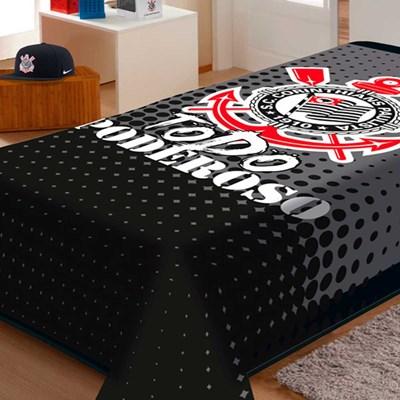 Cobertor Solteiro Raschel Corinthians Todo Poderoso Jolitex