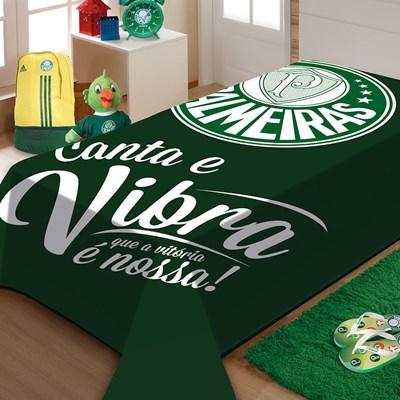 Cobertor Solteiro Raschel S.E  Palmeiras Jolitex