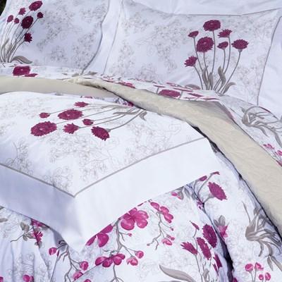 Colcha Cobreleito Casal 3 peças 100% algodão Percal 200 Fios Botanic Sultan