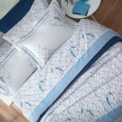 Colcha Cobreleito Queen 3 peças 100% algodão Percal 200 fios Hanami Sultan