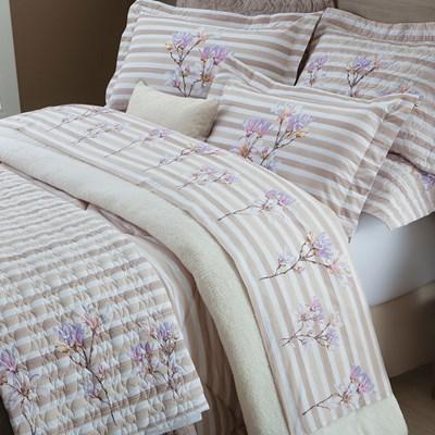 Colcha Cobreleito Queen 3 peças 100% algodão Percal 200 fios Italy Sultan