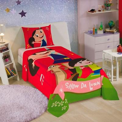 Colcha Infantil Simples Show da Luna Lepper.