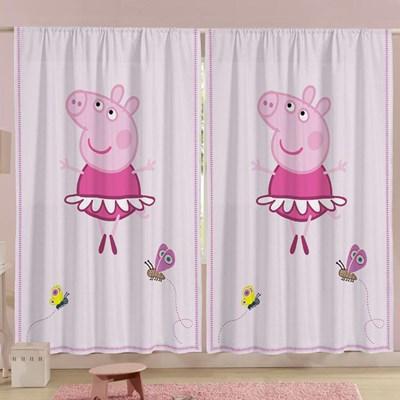 Cortina Infantil para Varão Peppa Pig com 2 peças Lepper