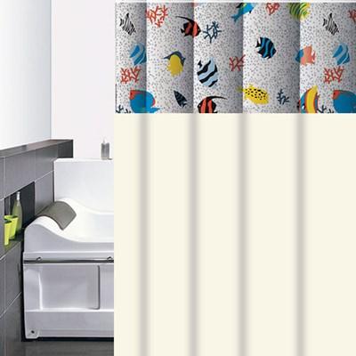 Cortina para Box 4Estações Peixinhos Anti Mofo C/10 Ganchos
