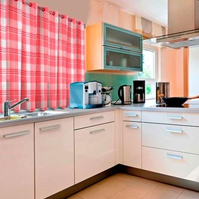 Cortina para Cozinha Xadrez 1,40mx2,00m Marguerita Salehtex