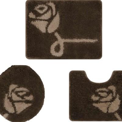 Jogo de Banheiro Jolitex Van Gogh Rosa 3 Peças