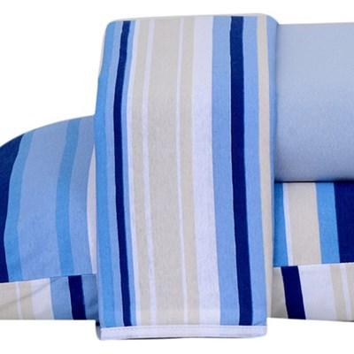 Jogo de lençol Casal Malha 100% Algodão 3 Peças Estampado