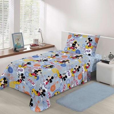 Jogo de Lençol Infantil Disney Mickey 150 Fios Santista