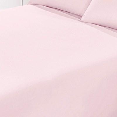 Jogo de Lençol Santista Liso Prata Casal Rosa 150 Fios 100% Algodão