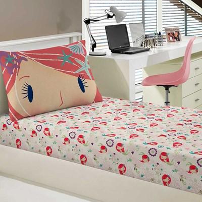 Jogo de lençol Solteiro Malha 100% Algodão 2 Peças Sleepy