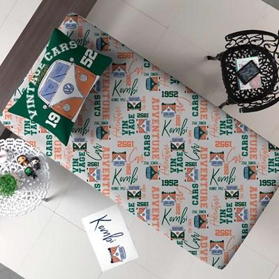 Jogo de lençol Solteiro Malha 100% Algodão PortalJoy 2