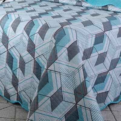Kit Colcha Casal 3 Peças Patchwork Paris Color Art III