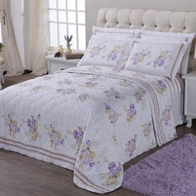 Kit Colcha King 200 Fios Classic Lilac - Casa Elegance