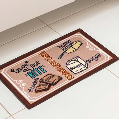 Kit de Tapete de Cozinha Bistrô 2 Peças Corttex