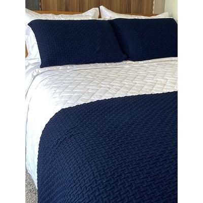 Kit Peseira em Tricot C/Porta Travesseiros Home Colection