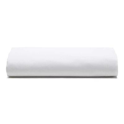Lençol Avulso Santista Liso Com Elástico Prata Branco King 150 Fios 100% Algodão