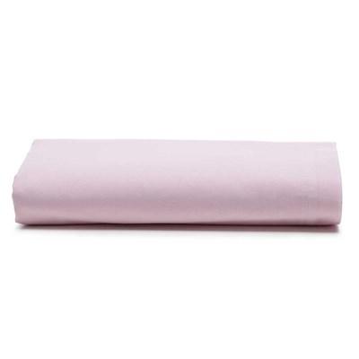 Lençol Avulso Santista Liso Com Elástico Prata Rosa Casal 150 Fios 100% Algodão