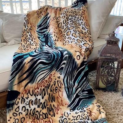 Manta de Microfibra Casal Animal Print Importada Sultan