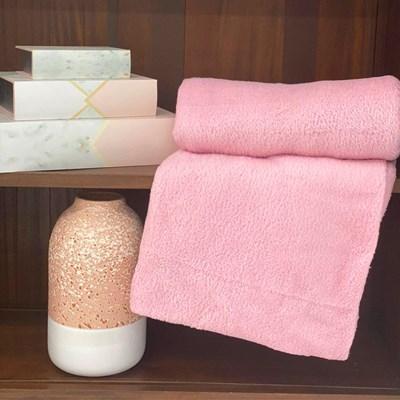 Manta de Microfibra Casal Importada Corttex Lisa