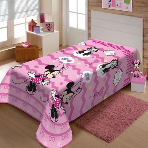 Manta Disney Soft Solteiro 1,50 x 2,00m Minnie Cut Jolitex