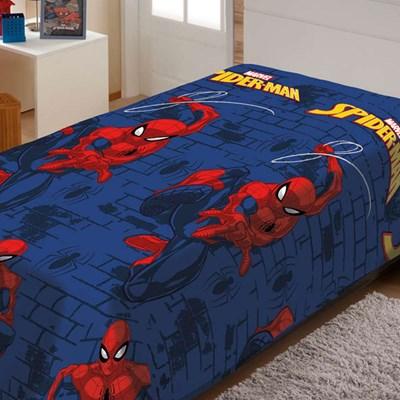 Manta Disney Soft Solteiro 1,50 x 2,00m Spider Man Teia Jolitex