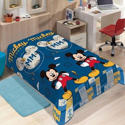 Manta Disney Soft Solteiro 1,50 x 2,20m Mickey Mouse Jolitex