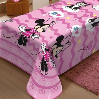 Manta Disney Soft Solteiro 1,50 x 2,20m Minnie Cut Jolitex