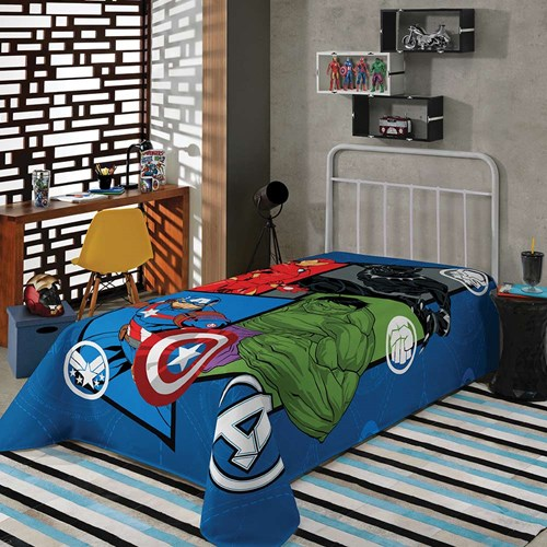 Manta Infantil Fleece Soft Avengers Lepper.