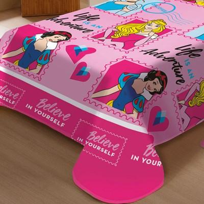 Manta Jolitex Soft Solteiro 1,50 x 2,00m Amigas Princesas